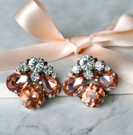 Blush pink sparkle earrings